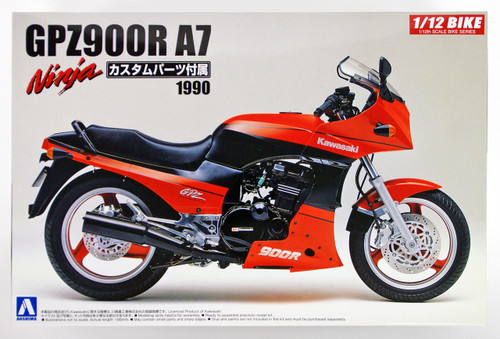 Aoshima Naked Bike 26 54543 Kawasaki GPZ900R Ninja A7 Type w/ Custom parts 1/12 scale kit