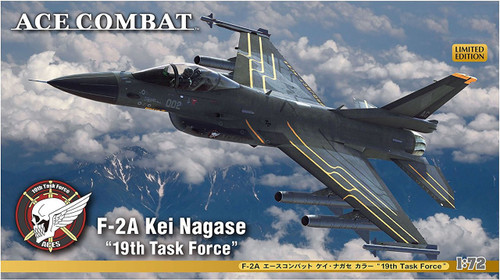 "Hasegawa SP364 F-2A Ace Combat Kei Nagase ""19th Task Force"" 1/72 scale kit"
