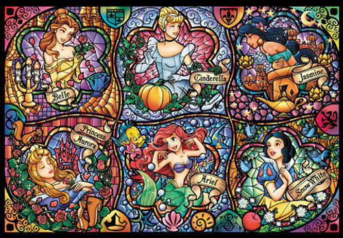 Tenyo Japan Jigsaw Puzzle D-108-987 Disney Princess (108 Pieces)