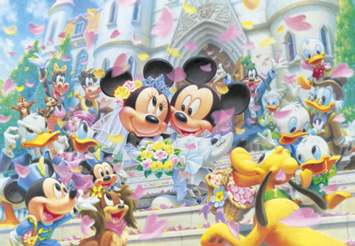 Tenyo Japan Jigsaw Puzzle D-108-994 Disney Mickey Mouse Wedding (108 Pieces)