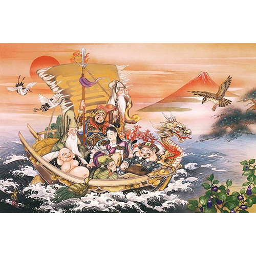 APPLEONE Jigsaw Puzzle 1000-813 Japanese Art Hakuga Takeuchi Seven Lucky Gods (1000 Pieces)