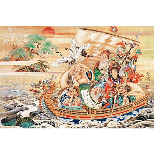 APPLEONE Jigsaw Puzzle 1000-814 Japanese Art Hakuga Takeuchi Seven Lucky Gods (1000 Pieces)