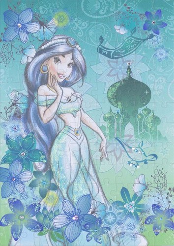 Epoch Jigsaw Puzzle Decoration 72-004 Disney Aladdin Jasmine (108 Pieces)