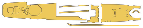Hasegawa QG70 721708 Linoleum Masking Sheet (Destroyer Yugumo) 1/700 scale