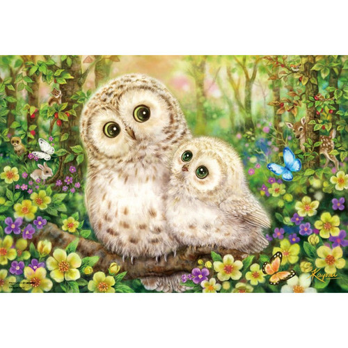 Beverly Jigsaw Puzzle M81-555 Japanese Art Owl Joyful Morning (1000 S-Pieces)