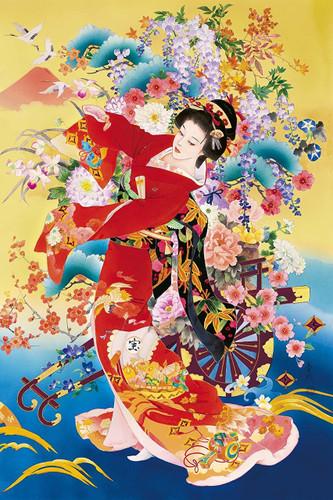 Epoch Jigsaw Puzzle 11-573 Japanese Illustration Kimono (1000 Pieces)