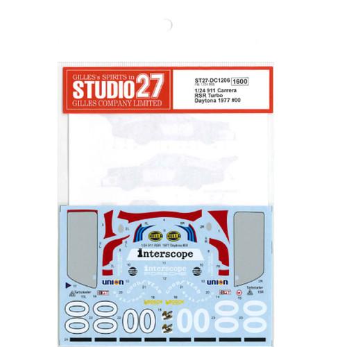 Studio27 ST27-DC1206 911 Carrera RSR Turbo #00 Daytona 1977 for Fujimi 1/24
