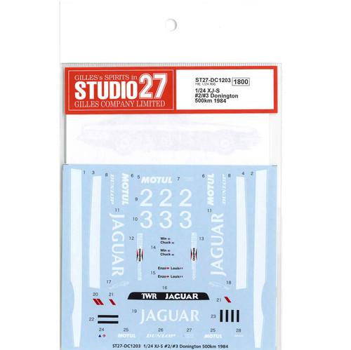 Studio27 ST27-DC1203 XJ-S works #2/#3 Donington 500km 1984 for Hasegawa 1/24