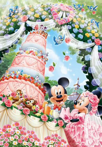 Tenyo Japan Jigsaw Puzzle D-300-245 Disney Mickey Mouse Wedding (300 Pieces)