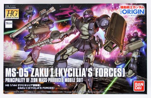 Bandai Gundam The Origin 018 ZAKU I (Kycilia's Forces) 1/144 Scale Kit