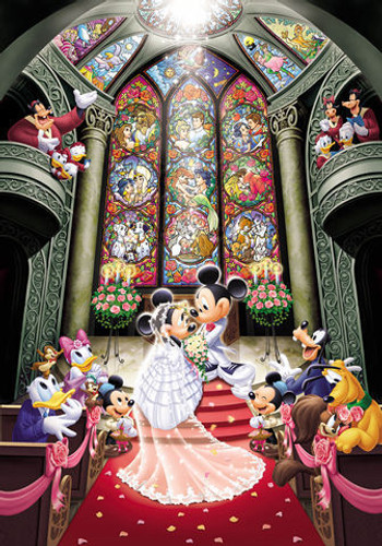 Tenyo Japan Jigsaw Puzzle D-500-356 Disney Mickey Mouse Wedding (500 Pieces)