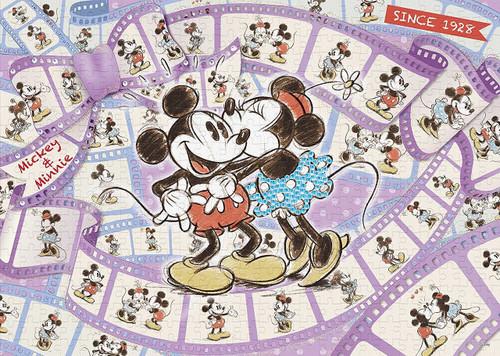 Epoch Jigsaw Puzzle 74-002 Disney Mickey & Minnie Film of Memories (500 Pieces)