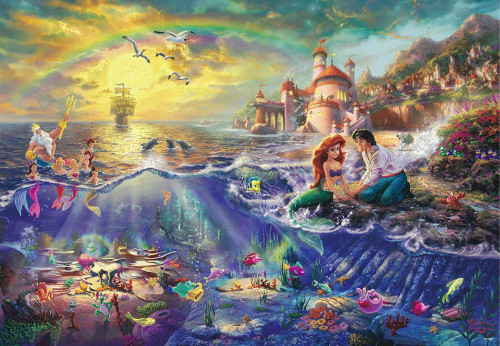 Tenyo Japan Jigsaw Puzzle D-1000-489 Disney The Little Mermaid (1000 Pieces)