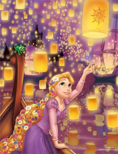 Yanoman Jigsaw Puzzle 42-44 Disney Tangled Rapunzel (300 Small Pieces)