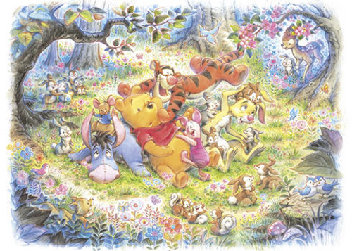 Tenyo Japan Jigsaw Puzzle D-500-421 Disney Winnie-the-Pooh (500 Pieces)