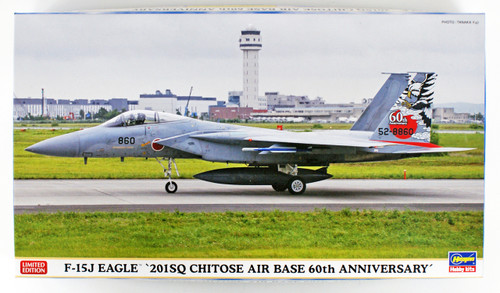 "Hasegawa 02265 F-15J Eagle ""201SQ Chitose Air Base 60th Anniversary"" 1/72 scale kit"