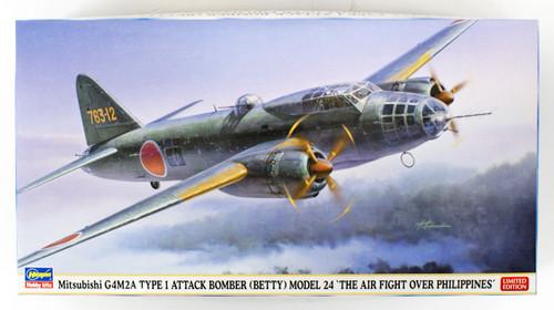 Hasegawa 02263 Mitsubishi G4M2A Type 1 Attack Bomber 24 1/72 scale kit