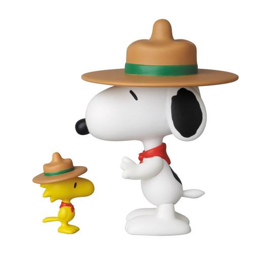 Medicom UDF-210 Ultra Detail Figure Peanuts Series 3 Beagle Scout Snoopy & Woodstock