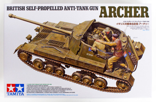 Tamiya 35356 British Self Propelled Anti Tank Gun Archer 1/35 Scale Kit