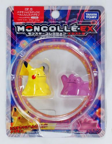 Takara Tomy Moncolle EX ESP_19 Ditto & Ditto Pikachu 108412