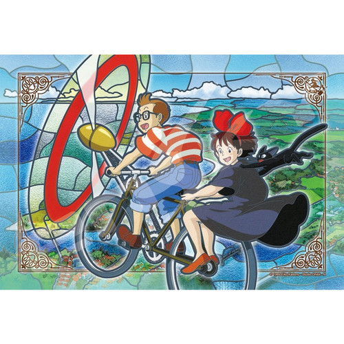 Ensky Frost Art Crystal Jigsaw Puzzle 300-AC037 Kiki's Delivery Service (300 Pieces)