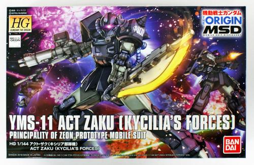 Bandai Gundam The Origin 020 Act Zaku (Kycilia's Forces) 1/144 Scale Kit
