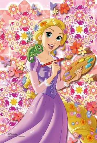 Yanoman Prism Art Jigsaw Petit Puzzle 97-168 Disney Tangled Rapunzel (70 Pieces)