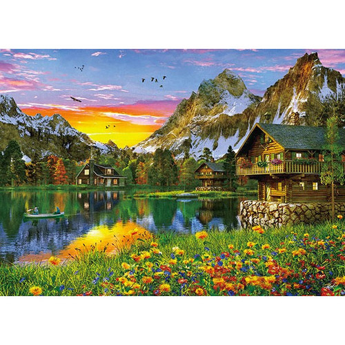 APPLEONE Jigsaw Puzzle 500-247 Dominic Davison Alpen Lake (500 Pieces)