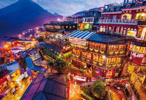 Beverly Jigsaw Puzzle M81-871 Jiufen Taipei Taiwan (1000 S-Pieces)