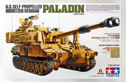 Tamiya 37026 U.S. Self-Propelled Howitzer M109A6 Paladin (Iraq War) 1/35 Scale Kit