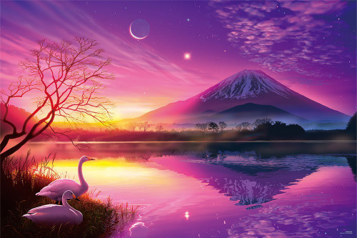 Yanoman Jigsaw Puzzle 10-1302 KAGAYA Mt.Fuji at Dawn (1000 Pieces)