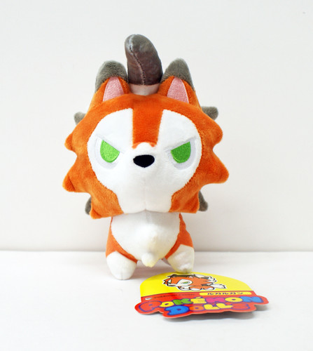 Pokemon Center Original Plush Doll Pokemon Dolls Lycanroc Dusk Form 11-232553