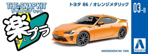 Aoshima 54192 Toyota 86 Orange Metallic 1/32 pre-painted kit
