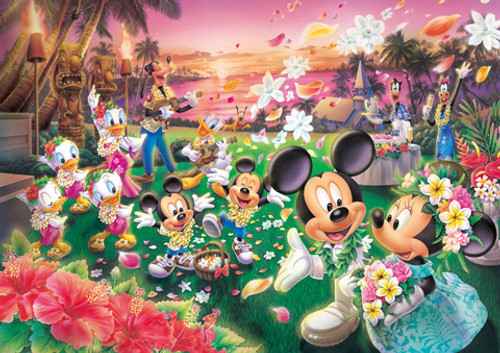 Tenyo Japan Jigsaw Puzzle DW-1000-361 Disney Mickey Hawaii Wedding (1000 Pieces)