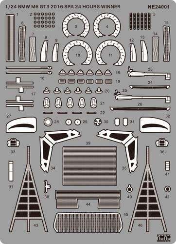 Platz NE24001 1/24 BMW M6 GT3 2016 Spa 24 Hours Winner Detail Up Parts