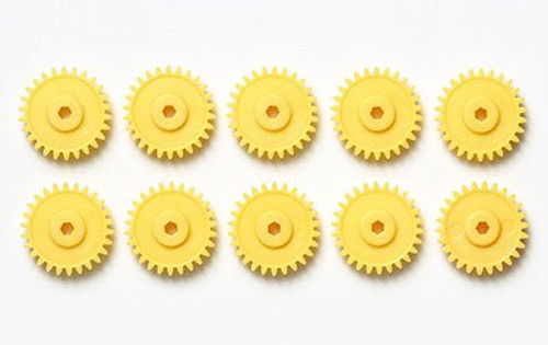 Tamiya AO-1041 Mini 4WD G-18 Gear Yellow (10 pcs.) (10312)