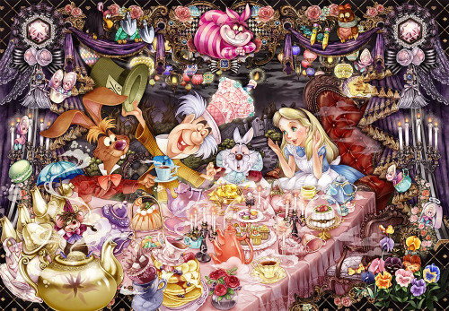 Tenyo Japan Jigsaw Puzzle D-1000-495 Alice in Wonderland Tea Party (1000 Pieces)
