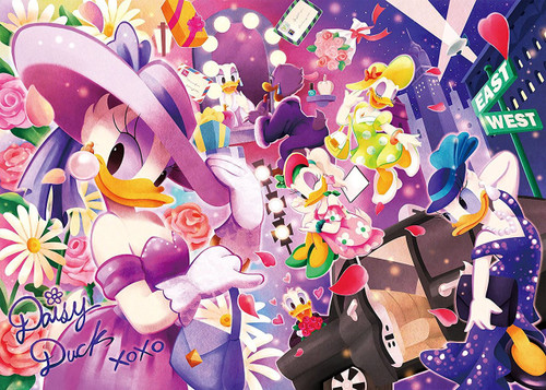 Tenyo Japan Jigsaw Puzzle D-500-477 Disney Daisy Duck Sparkling (500 Pieces)
