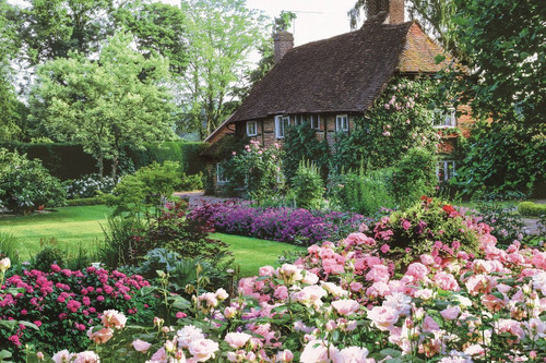 Epoch Jigsaw Puzzle 10-797 Flower Garden Cottage (1000 Pieces)