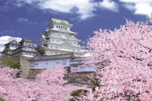Epoch Jigsaw Puzzle 10-796 Himeji Castle Sakura Cherry blossoms (1000 Pieces)