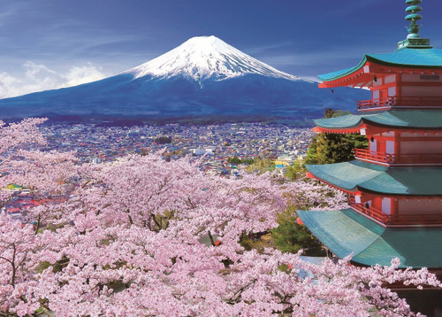 Epoch Jigsaw Puzzle 05-110 Japanese Scenery Mt.Fuji Asama Shrine (500 Pieces)