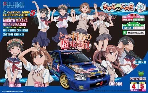 Fujimi CD22 Subaru Impreza WRX To Aru Kagaku no Railgun 1/24 Scale Kit