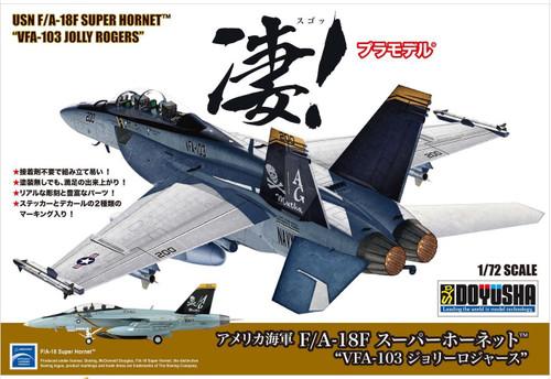 Doyusha 412626 USN F/A-18F Super Hornet 'VFA-103 Jolly Rogers' 1/72 Scale Plastic Kit