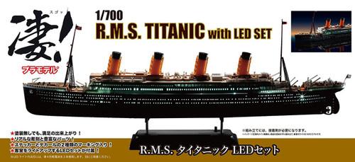 Doyusha 412718 R.M.S. Titanic with LED Light Set 1/700 Scale Plastic Kit