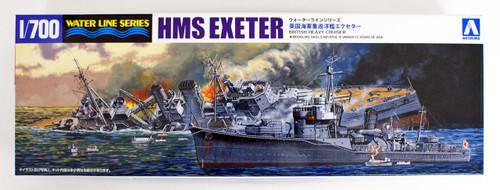 Aoshima Waterline 52709 British Heavy cruiser Exeter Battle of SURABAYA 1/700 scale kit