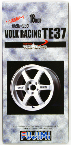 Fujimi TW11 Volk Racing TE37 Wheel & Tire Set 18 inch 1/24 Scale Kit