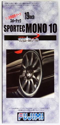 Fujimi TW12 SPORTEC MONO 10 Wheel & Tire 19 inch 1/24 Scale Kit