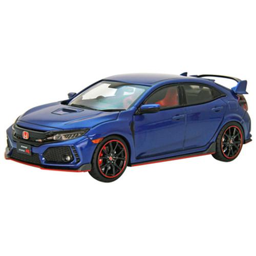 Ebbro 45575 Honda CIVIC Type R 2017 Brilliant Sporty Blue Metallic 1/43 Scale
