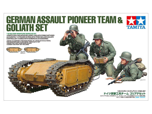 Tamiya 35357  German Assault Pioneer Team & Goliath Set 1/35 Scale Kit