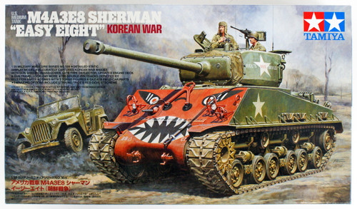 "Tamiya 35359 US Medium Tank M4A3E8 Sherman ""Easy Eight"" Korean War 1/35 Kit"